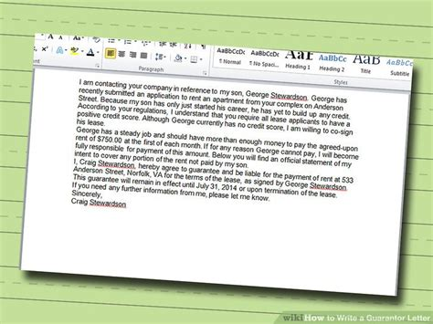 how to write letter as guarantor 5 ways to write a guarantor letter wikihow