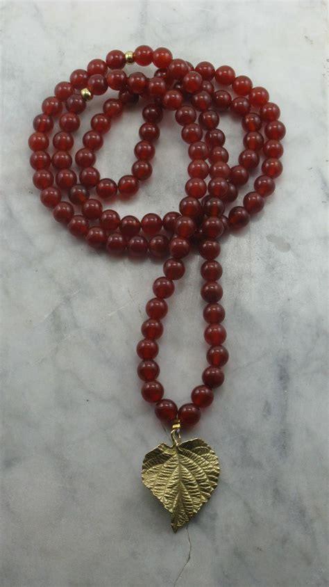 mala prayer golden leaf mala 108 carnelian mala buddhist