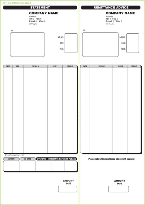 free sage invoice templates custom printed sage invoices