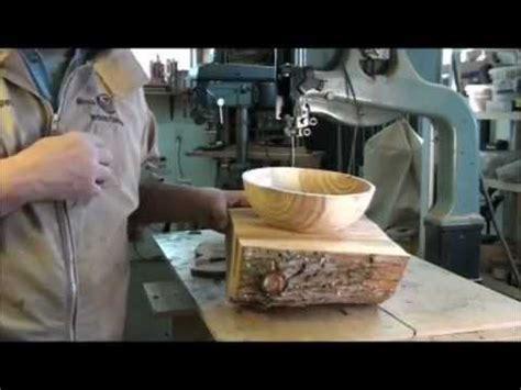 turning  wet wood bowl   lathe part