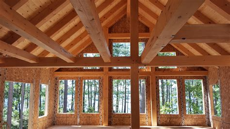 Cabin Designs Plans by Ewp Cabin With Sip Supported Rafters Blue Ox Timber Frames