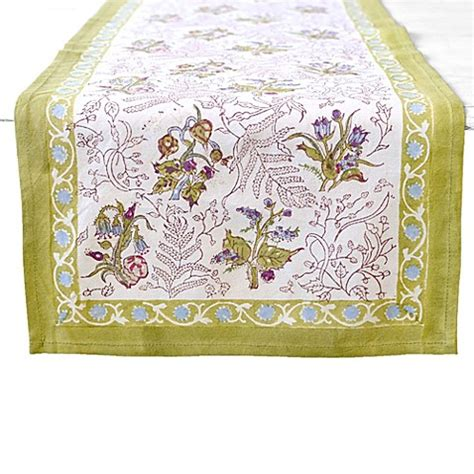 couleur nature table runner couleur nature petite fleur table runner bed bath beyond
