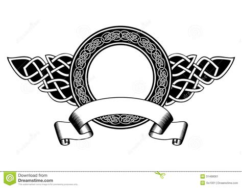 celtic frame stock vector image of celt element