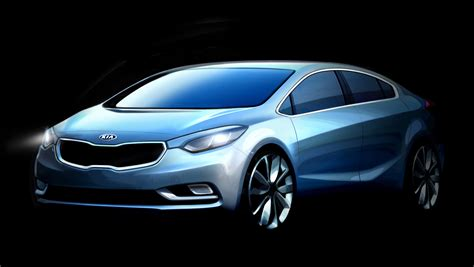 Kia Cerrato Kia Cerato Official Sketches Of New Small Sedan Photos