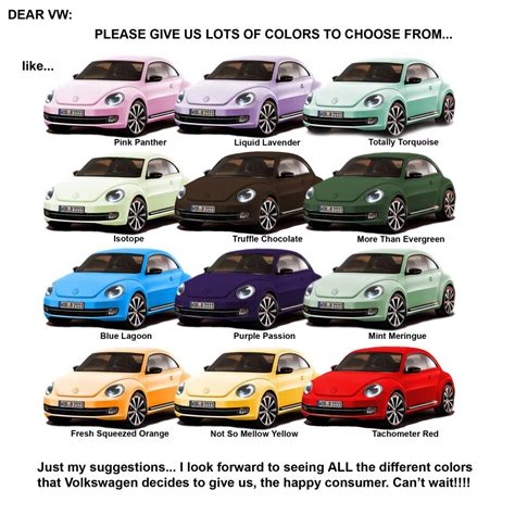 volkswagen beetle colors vwvortex com 2012 beetle colors