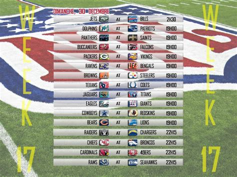 Calendrier Nfl Calendrier Nfl Made By Seven Entertainment Huddle