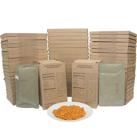 Shelf Of Mre Meals by Mre Entree Variety Pack Of 72