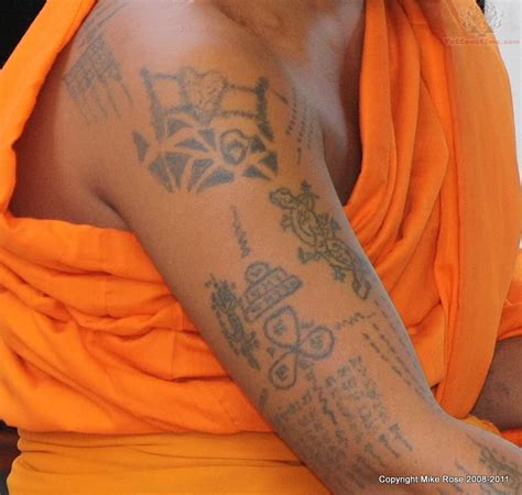 thai buddhist tattoos designs tattooed by a buddhist monk in thailand tattowmag