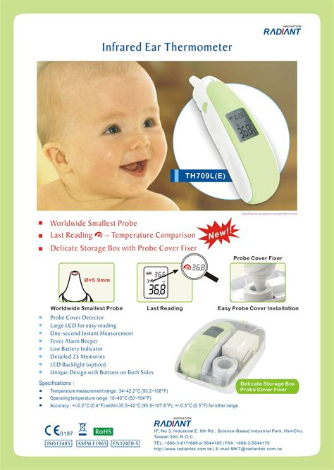 Infrared Ear Thermometer radiant innovation inc products thp59j infrared ear