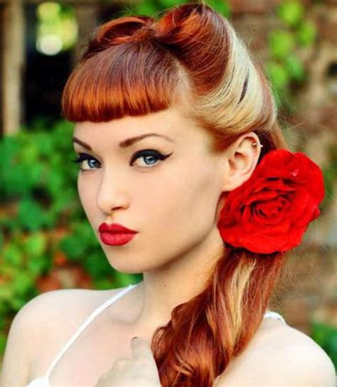 hair styles for black hair two toned two tone victory roll hairstyle the latest trends in