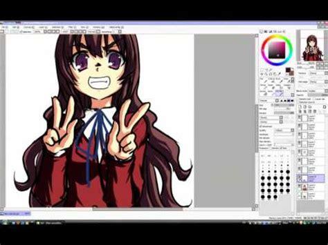 paint tool sai drawing anime how to draw anime aisaka taiga paint tool sai