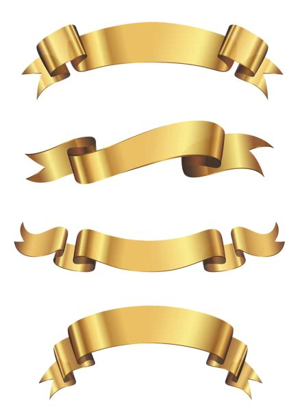 ribbon png ribbons and gold on pinterest gold ribbon banners there is a ton of free clip art at