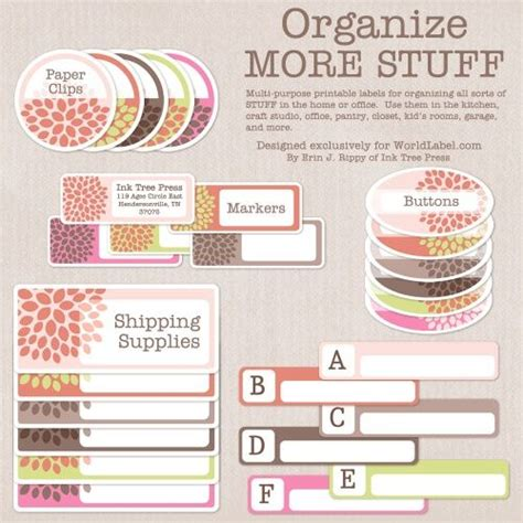 printable garage labels quot organizing labels for more of your stuff use them for