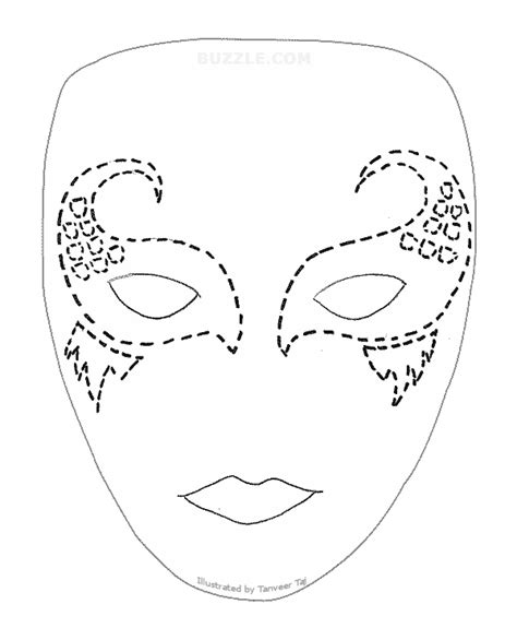 printable full face mask template images
