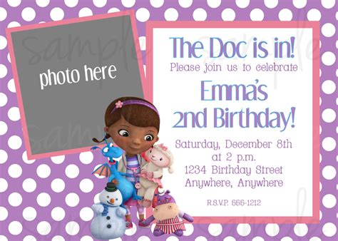 free doc mcstuffins invitation templates doc mcstuffins birthday invitation
