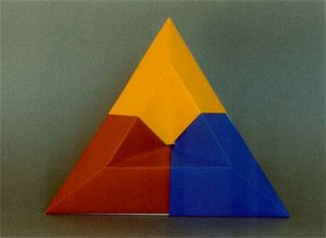 Triangle Origami Box - sunken triangle box