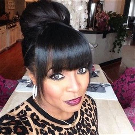 weave buns and bangs 89 best images about flawless hair buns updo s on
