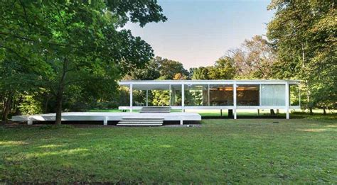 Historic Home Plans by The Glass House Mies Van Der Rohe S Farnsworth House