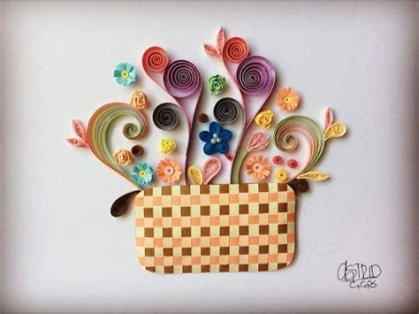 tutorial quilling en vidéo tutorial basket quilling canasta youtube