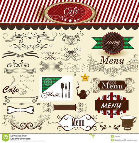 menu design elements calligraphic decorative retro elements for cafe and menu