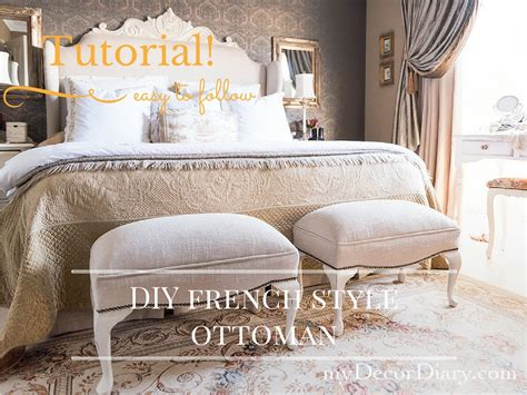 make your own pouf ottoman french style ottoman how to build your own mydecordiary