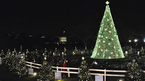 visiting national christmas tree at night national tree president s park white house u s national park service