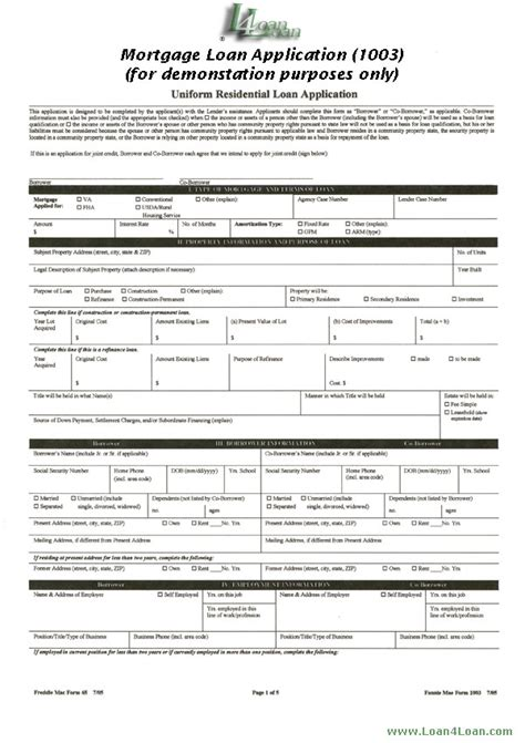 Credit Application Form En Español Mortgage Loan Application Www Imgkid The Image Kid Has It