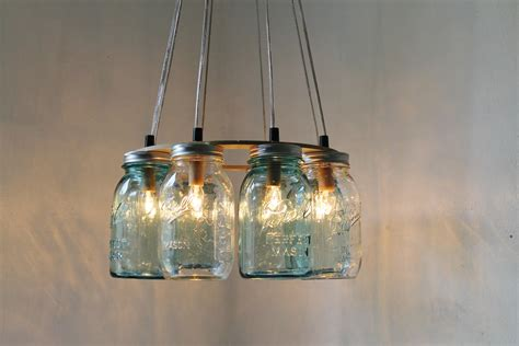 country light fixtures modern country mason jar chandelier upcycled hanging by