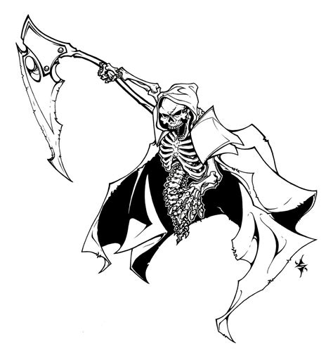 grim reaper face coloring pages coloring pages