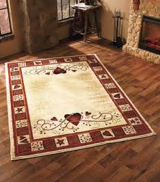 rustic cabin area rugs area rug hearts berries country rustic primitive cabin