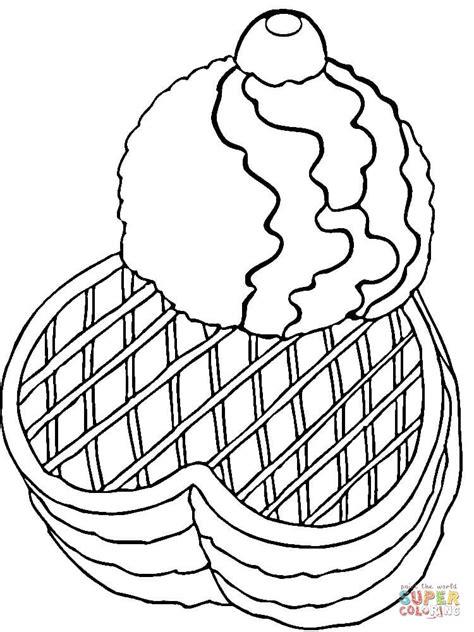waffle house coloring page ausmalbild eiscreme mit waffeln ausmalbilder kostenlos