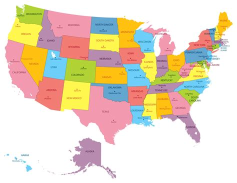 map of the usa states map of the united states