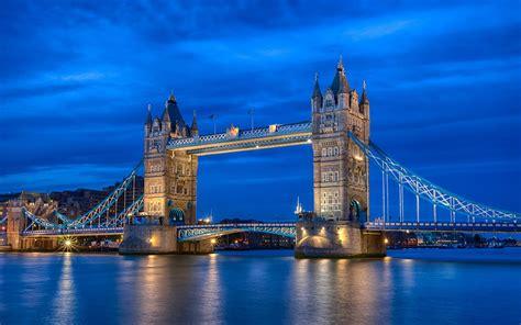 ダウンロード壁紙 1680x1050 イギリスロンドン、街夜川、テムズ川、タワーブリッジ、青空、ライト HDの ...