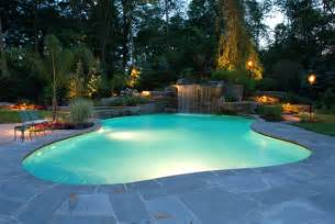 Backyard Pools Nj Lights Fiber Optic Pools Led Landscape Lighting