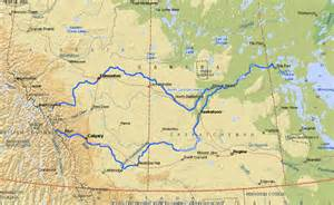 canadian river map saskatchewan river