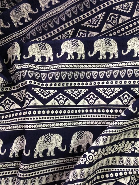 Elephant Print Upholstery Fabric by Elephant Print Fabric Boho Fabric Alternate Elephant Print