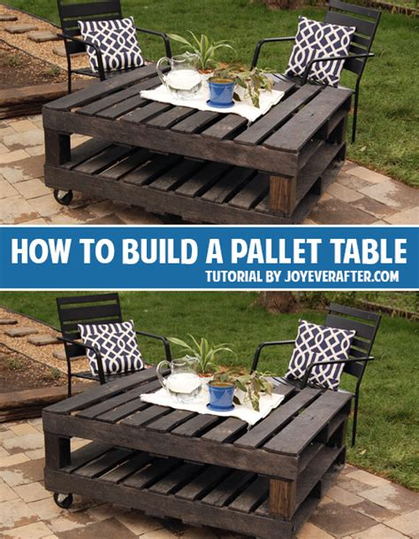 How To Build A Pallet by How To Build A Pallet Table Andrea S Notebook