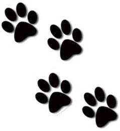 paw print tattoos on dog paw prints scroll clipart 3 4