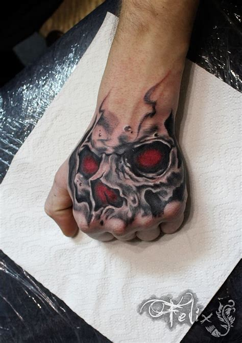 skull tattoos on hands skull tattoos for ideas gallery designs