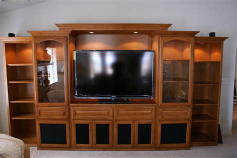 Handmade Entertainment Units - built in entertainment centers and custom wall units in
