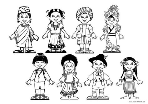 Children Of The World Coloring Page children around the world coloring page around the world