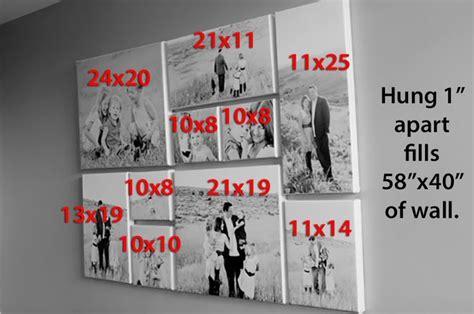 canvas layout sizes best 25 canvas display ideas on pinterest canvas