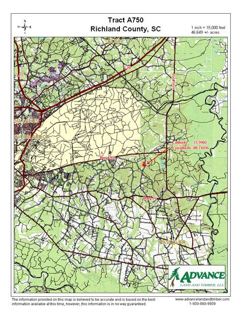 Richland County Sc Property Records 46 65 Acres Recreational Land Richland County Sc Land And Farm