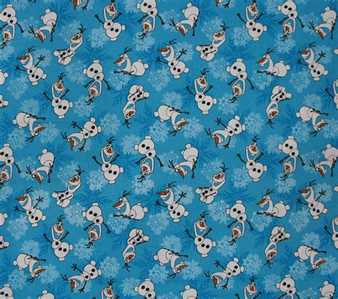 Patchwork And Quilting Fabric - patchwork quilting sewing fabric frozen olaf snowman