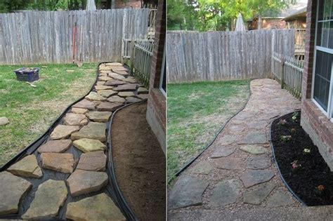backyard sidewalk ideas 25 best ideas about backyard walkway on pinterest