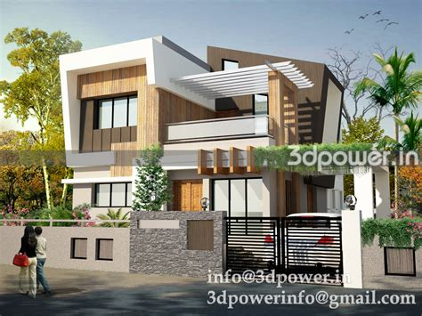 Row House Pune - 3d animation 3d rendering 3d walkthrough 3d interior cut section photomontage in india 3d