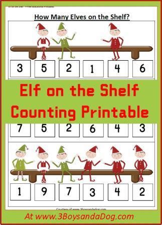 Story Of On The Shelf Printable by Counting Activities Castle View Academy