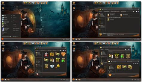 win 7 halloween themes halloween skin pack for windows 7 8 8 1 windows10