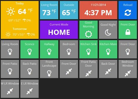 home automation dashboard for smartthings chris nelson