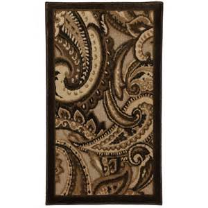 brown paisley rug shop mohawk home brown paisley rectangular multicolor